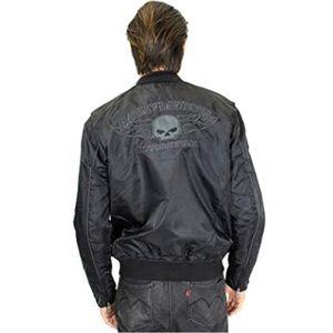 Harley-Davidson Black Willie G Skull Bomber Jacket